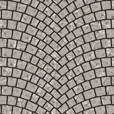 Texture arquée 075 de trottoir de pavé rond Image stock