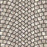 Texture arquée 077 de trottoir de pavé rond Images stock