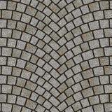 Texture arquée 078 de trottoir de pavé rond Photographie stock