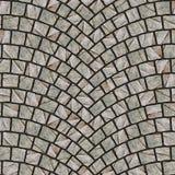 Texture arquée 079 de trottoir de pavé rond Photo libre de droits
