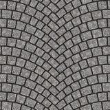 Texture arquée 081 de trottoir de pavé rond Photo libre de droits