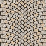 Texture arquée 083 de trottoir de pavé rond Photos libres de droits