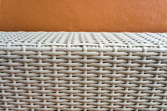 Texture of artificial bamboo weave furniture Stock Image