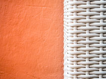 Texture of artificial bamboo weave furniture Royalty Free Stock Image