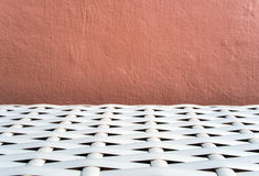 Texture of artificial bamboo weave furniture Royalty Free Stock Images