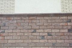 Texture - artificial decorative stone façade. Decorative grey color rough stone wall background texture. Wall of decorative brick. Artificial stone royalty free stock photos