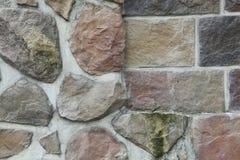 Texture - artificial decorative stone façade. Decorative grey color rough stone wall background texture. Stock Image