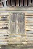 Texture of Asian style old wood house wall. Royalty Free Stock Photography
