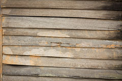 Texture of Asian style old wood house wall. Stock Photos