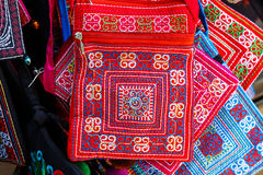 Texture of asian vintage bag Royalty Free Stock Photo