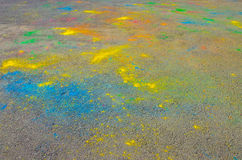 The texture of the asphalt. Dry paint. Multi-colored stains, splashes and traces of paint dry. royalty free stock image