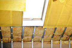 Texture - attic when installing waterproofing Royalty Free Stock Photos