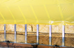 Texture - attic when installing waterproofing Stock Photography