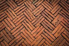 Texture au sol antique de briques photographie stock