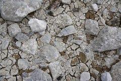 Texture au sol criquée sèche Images libres de droits