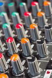 Texture of an audio mixer Royalty Free Stock Image