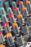 Texture of an audio mixer Royalty Free Stock Image