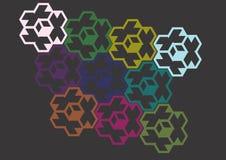 Texture avec des hexagones colorés Images libres de droits