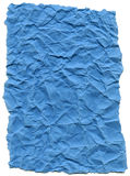 Baby Blue Fiber Paper - Crumpled with Torn Edges Royalty Free Stock Photo