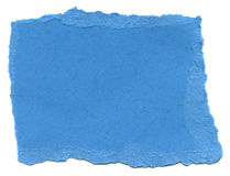 Baby Blue Fiber Paper - Torn Edges Royalty Free Stock Photography