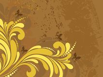 Texture background with artwork, butterfly Stock Photography