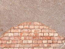 2 Texture background as gray wall which sprayed with small stone particles stock image
