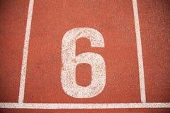 Texture background Athletics Track Lane Stock Images