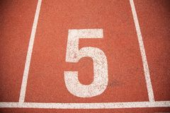 Texture background Athletics Track Lane Stock Images