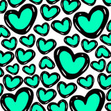 Texture background. Background drawn with hearts. Love. Texture of Hearts Stock Photos