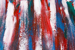 Texture background - blue and red paint strokes Stock Photography