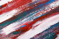 Texture background with blue and red paint strokes Royalty Free Stock Photo