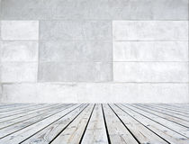 Texture background cement and wood floors. Texture cement and wood floors Royalty Free Stock Image