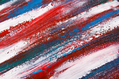 Texture background - close up of blue and red paint strokes Stock Photos