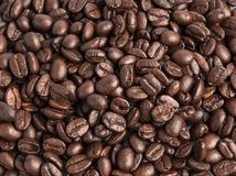 Texture background of coffee beans Royalty Free Stock Photos