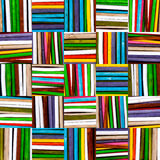 Texture background of colored wooden sticks. Colored wooden sticks cells. Background for any decorative use. Wrapping paper or other surfaces stock image