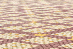 Texture, background, colorful area lined with paving slabs Royalty Free Stock Photo