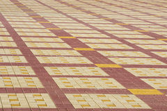 Texture, background, colorful area lined with paving slabs Royalty Free Stock Image