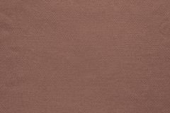 Texture and background of cotton fabric brown color Stock Images