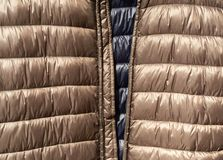 Texture and background of Down jackets fabric stock photos