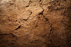 Texture background - dry cracked brown earth Stock Photos