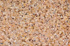 Texture background gravel floor. Brown gravel royalty free stock image