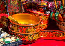 Texture, background. Handicrafts Hohloma. a particular skill of Stock Photography