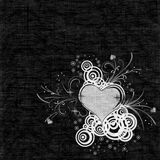Texture background with heart Stock Images
