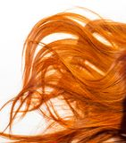 Texture, background. human hair red color. Highlight hair texture abstract background royalty free stock image