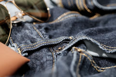 Texture background of jeans Royalty Free Stock Photo