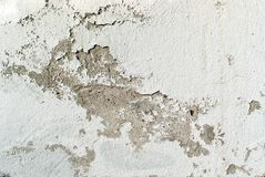 Texture, background: ld peeling concrete wall. Texture, background: old concrete wall with peeling plaster and crumbling whitewash Stock Photography