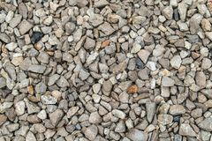 Texture background of light gravel and stones royalty free stock photography