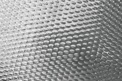 Texture Background of Matalic Silver Plate with Convex Stock Photo