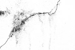 Texture background of the old crack wall, black and white. Royalty Free Stock Photography
