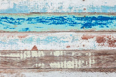 Texture and background of old log with peeled color Stock Images
